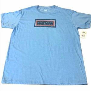 Billabong Logo Graphic Blue Cotton T-Shirt